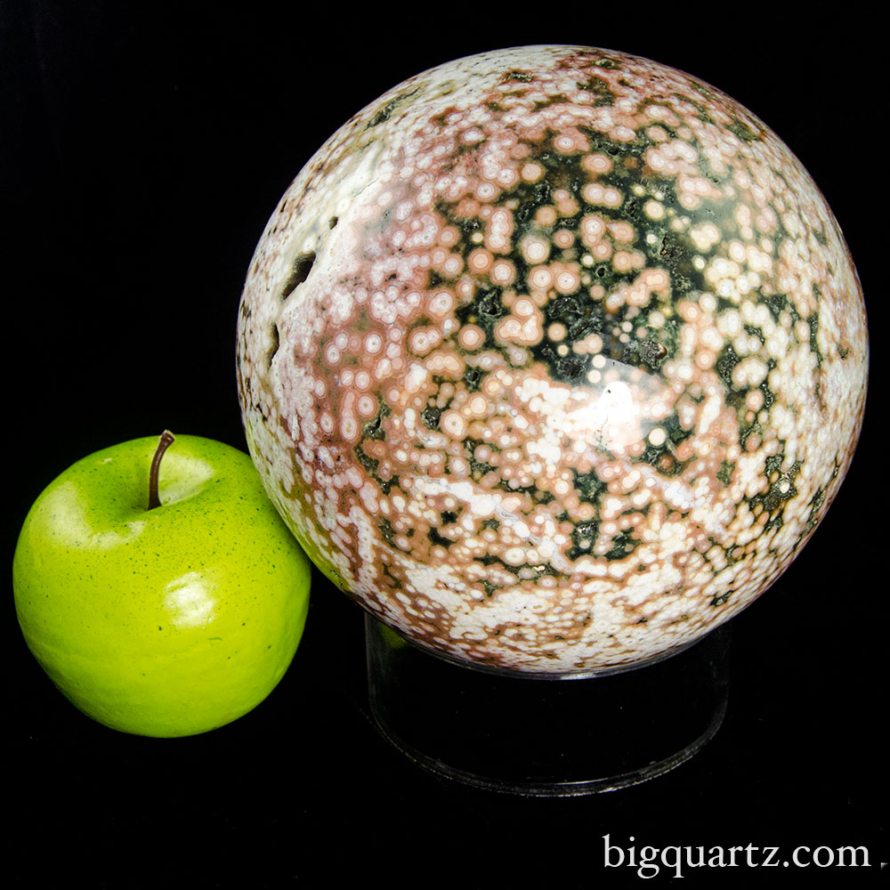 Large Old-Stock Ocean Jasper Sphere (Madagascar #7584) 6 inch diameter