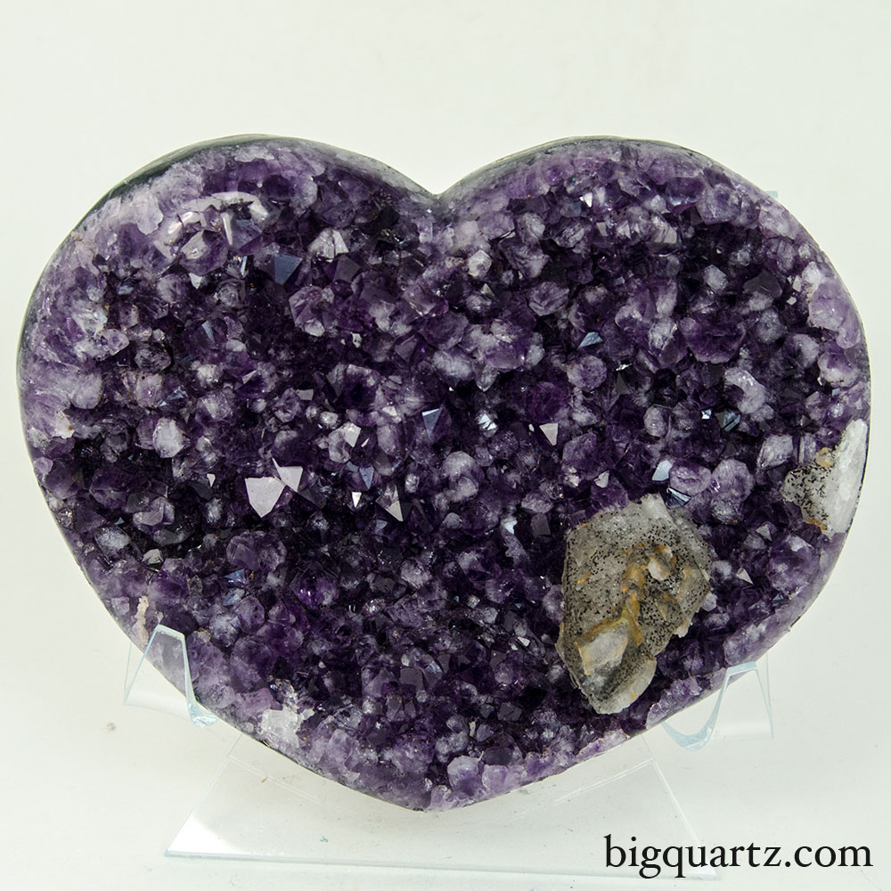 Amethyst Geode Heart (Uruguay, #9577) 2.2 pounds weight