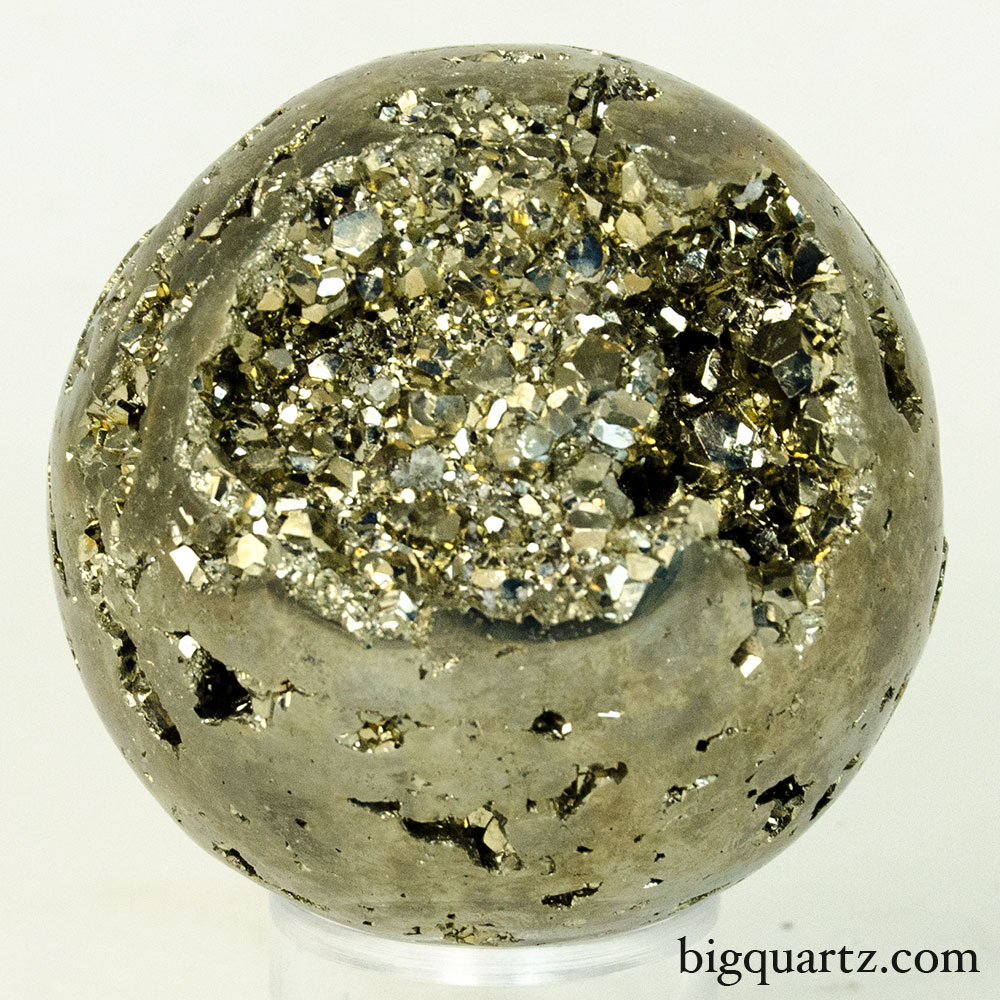 Pyrite Crystal Sphere (Peru, #9597) 1 pounds
