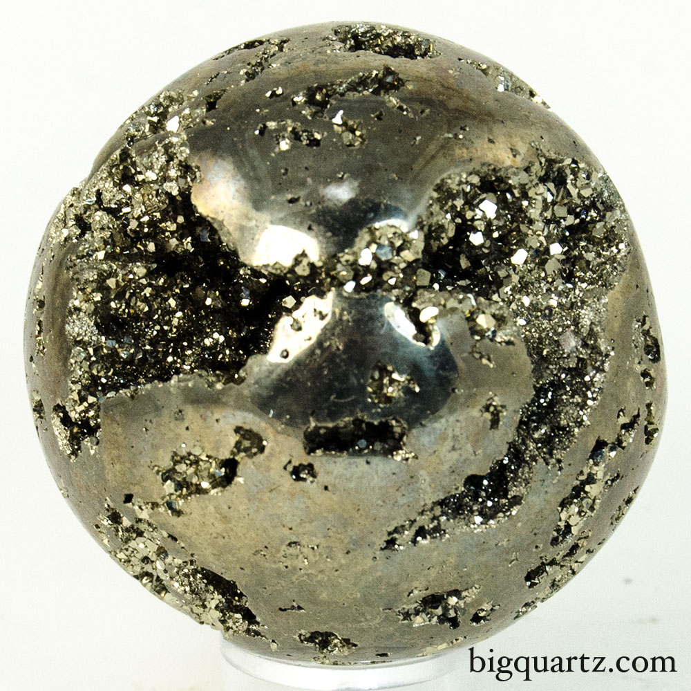 Pyrite Crystal Sphere (Peru, #9600) 0.85 pounds