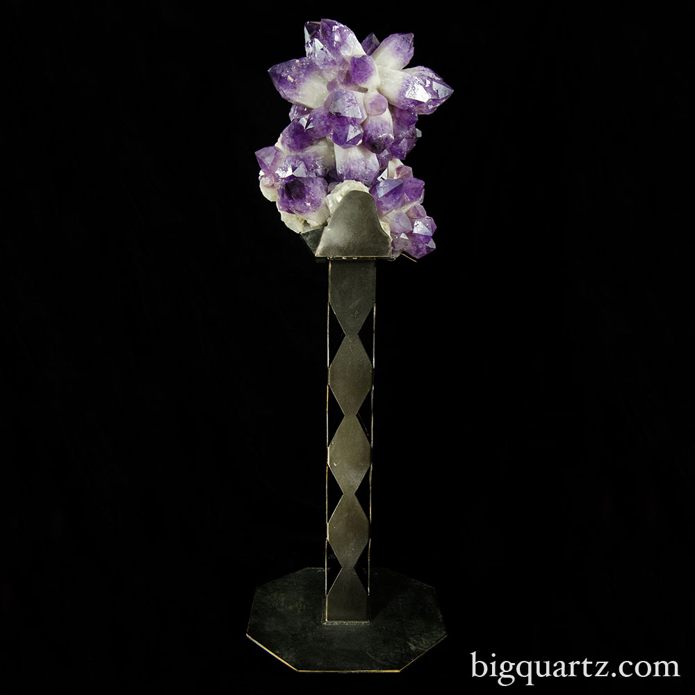 Large Amethyst Crystal Cluster w/ Stand (Bolivia #8541) 4.5 feet tall