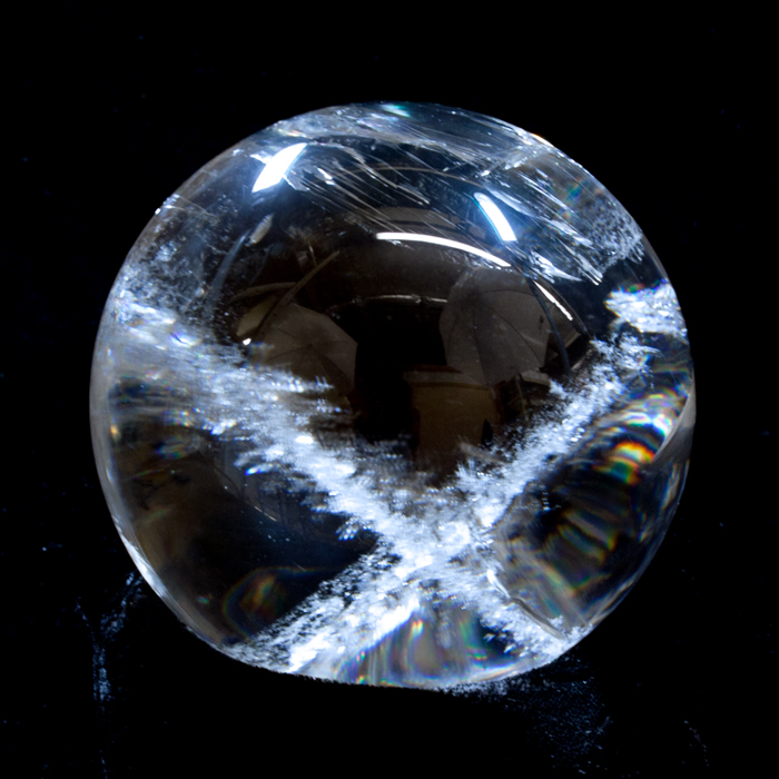 "Brazilian Quartz ""X"" Sphere (SOLD)"