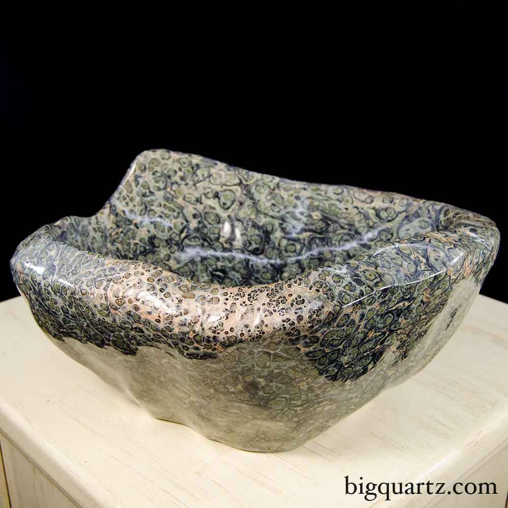 Large Kambaba Jasper Bowl (Madagascar #8506) 68.9 pounds