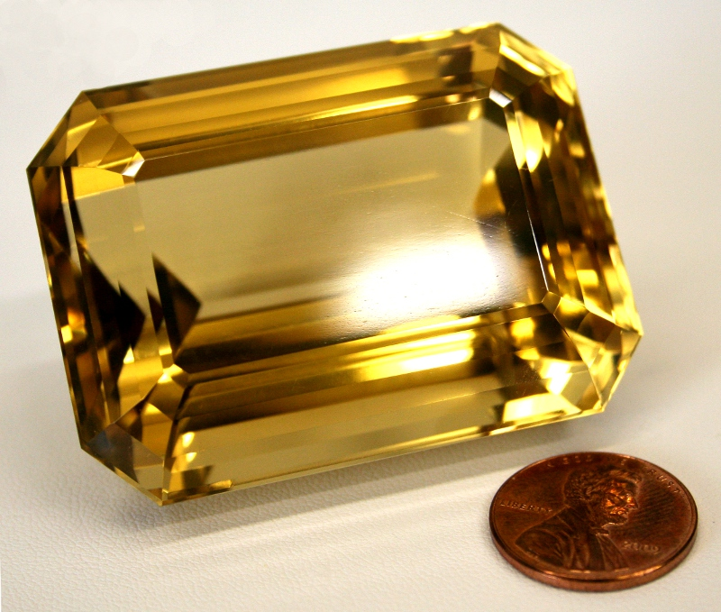 Citrine Large Faceted Gemstone Brazil (SOLD)
