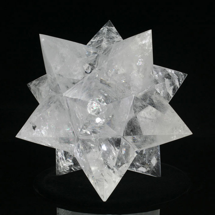 Large Brazilian Quartz Hexacontagon Star (SOLD)