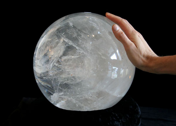 10 inch Diameter Brazilian Clear Quartz Sphere (SOLD)
