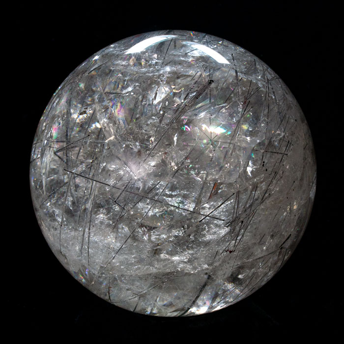 "7"" Brazilian Tourmalinated Quartz Sphere (SOLD)"