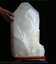 Extra Large Natural Quartz Crystal Point with Polished Faces (Brazil #38) 175.8 pounds