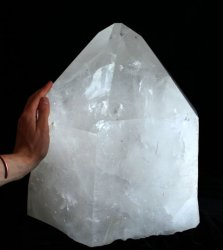 Extra Large Natural Quartz Crystal Point with Polished Faces (Brazil #44) 132 pounds