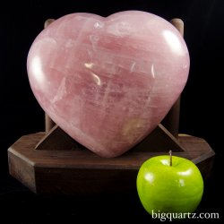 Large Sculpted Rose Quartz Crystal Heart w/ Stand (Madagascar #8301) 22.6 pounds