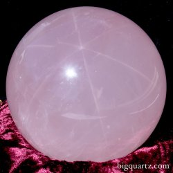 Large Star Rose Quartz Crystal Sphere (Brazil, #9115) 11.6 pounds