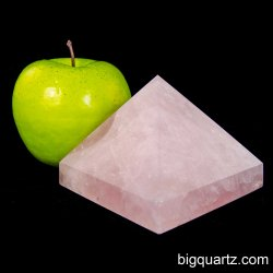 Large Rose Quartz Crystal Pyramid Sculpture (Brazil #A014) 1.2 pounds weight