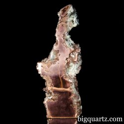 Front Polished Copper Nugget w/ Quartz (Michigan, #A058) 10.7 Pounds