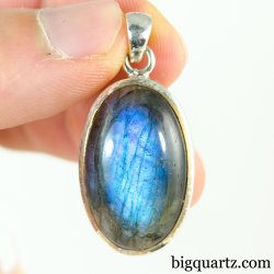 Labradorite Crystal Pendant (Sterling Silver, #A168)