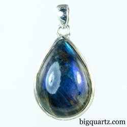 Labradorite Crystal Pendant (Sterling Silver, #A169)