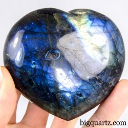 Labradorite Crystal Heart (Madagascar, #A296) 304 grams weight