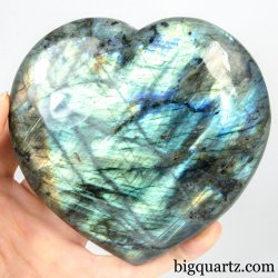 Labradorite Crystal Heart (Madagascar, #A298) 1.5 pounds weight