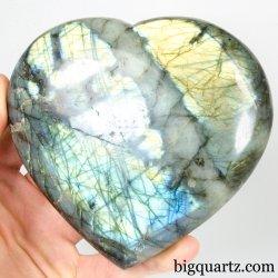 Labradorite Crystal Heart (Madagascar, #A299) 2 pounds weight