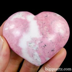 Rhodonite Crystal Heart (Peru, #A304) 211 grams weight