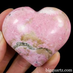 Rhodonite Crystal Heart (Peru, #A305) 224 grams weight