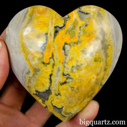 Bumblebee  Jasper Crystal Heart (Peru, #A309) 230 grams weight