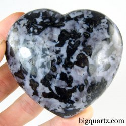 Indigo Gabbro Crystal Heart (Madagascar, #A325) 301 grams weight