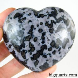 Indigo Gabbro Crystal Heart (Madagascar, #A326) 321 grams weight
