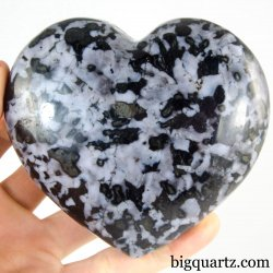 Indigo Gabbro Crystal Heart (Madagascar, #A328) 1.4 pounds weight