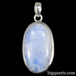 Rainbow Moonstone Crystal Pendant (Sterling Sterling, #A347)