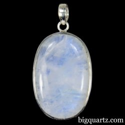 Rainbow Moonstone Crystal Pendant (Sterling Sterling, #A350)