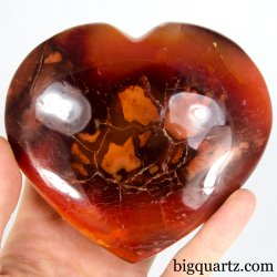 Carnelian Crystal Heart (Madagascar, A422) 1.5 pounds weight