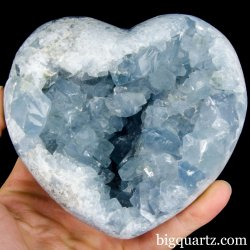 Celestite Geode Heart (Madagascar, A426) 3.0 pounds weight