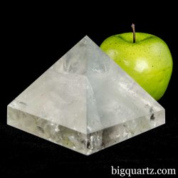 Clear Quartz Crystal Pyramid Sculpture (Brazil #A077) 1.9 pounds weight