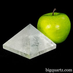 Clear Quartz Crystal Pyramid Sculpture (Brazil #A081) 1 pound weight