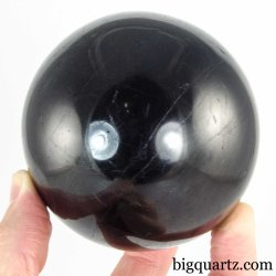 Black Tourmaline Crystal Ball Sphere (Madagascar #A292) 3 inches diameter