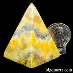 Bumblebee Jasper Crystal Pyramid (Indonesia #A316) 2 inches tall