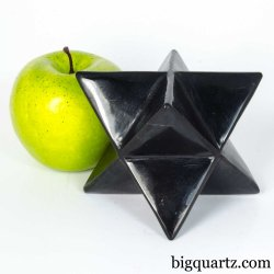 Shungite Merkaba Sculpture (#A383 Russia) 1.4 pounds weight