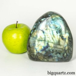 Labradorite Polished Free-Form Crystal (Madagascar #B006) 4.3 inches tall