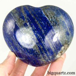 Lapiz Lazuli Crystal Heart Sculpture (Afghanistan #B017) 1.2 Pounds Weight