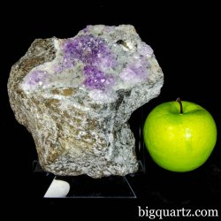 Old-Stock Amethyst, Calcite & Mica on Matrix Natural Crystal Specimen (Karur, India #B046) 6 inches tall