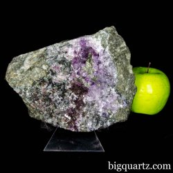 Old-Stock Amethyst & Mica on Matrix Natural Crystal Specimen (Karur, India #B051) 7 inches wide