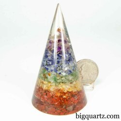 "Gemstone ""Orgonite"" Acrylic Sculpture (#B350) 3.1 inches tall"