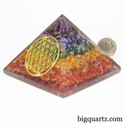 "Pyramid ""Orgonite"" Acrylic Sculpture (#B351) 0.7 pounds weight"