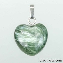 Seraphinite Small Heart Pendant (Russia #B374)