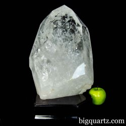 Extra Large Quartz Crystal Point with Stand (Brazil #B402) 48.6 pounds