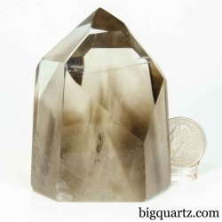 Smoky Quartz Crystal Point (Brazil #B419) 3 inches tall