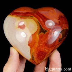 Polychrome Jasper Crystal Heart (Madagascar #B423) 3.25 inches wide