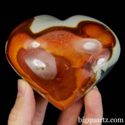 Polychrome Jasper Crystal Heart (Madagascar #B424) 3.5 inches wide