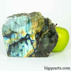 Labradorite Crystal Polished & Natural Faces (Madagascar #B442) 4.25 inches tall