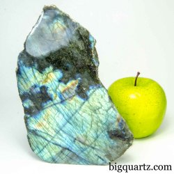 Labradorite Crystal Polished & Natural Faces (Madagascar #B443) 6 inches tall